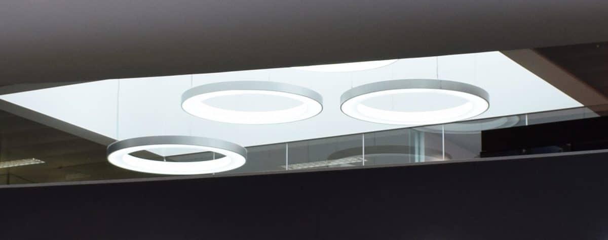 Car showroom bespoke lighting