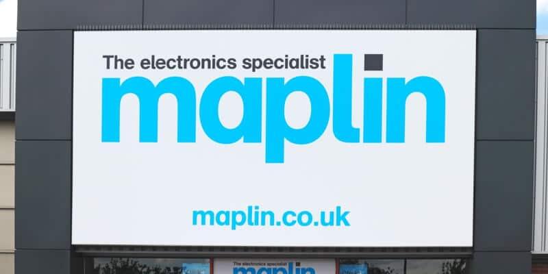 Large maplin signage