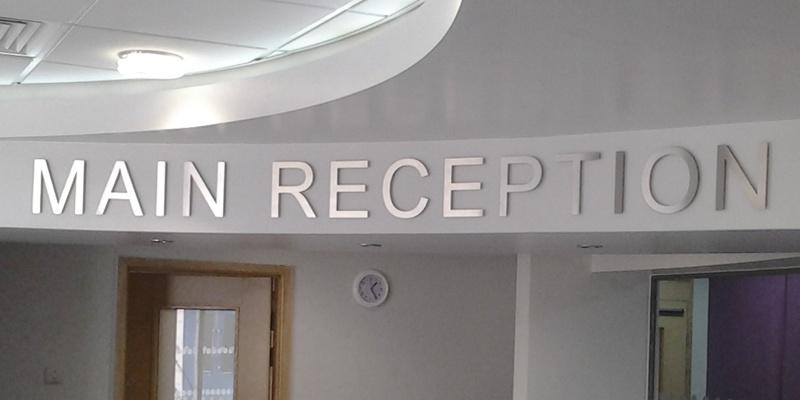 flat cut letter sign